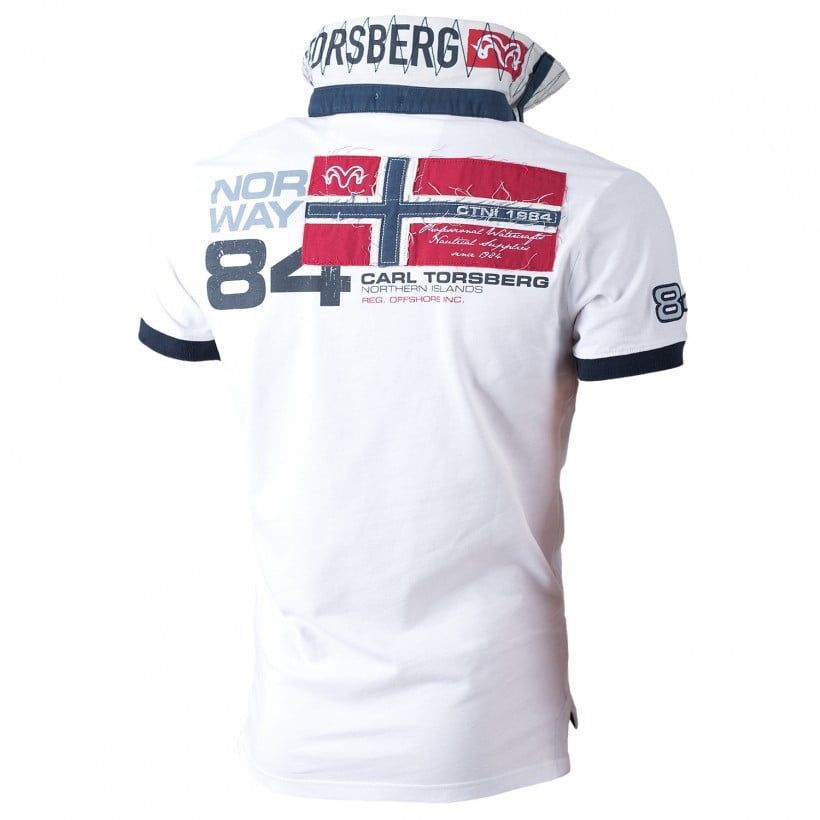 Sporteverest ct polo majica norway 84 white 2